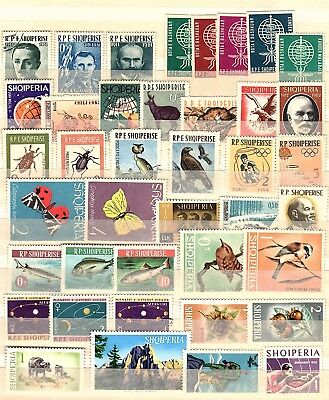 ALBANIA early 1960's collection of stamps (40) - used & hinged mint