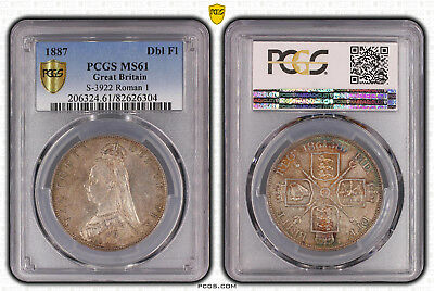 1887 Great Britain Double Florin PCGS MS61 S-3922 Roman I