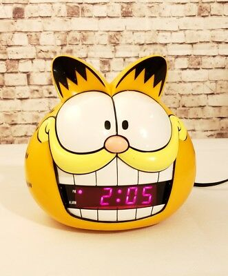 Vintage 1991 Garfield Head Digital Alarm Clock Sunbeam Model 887-99