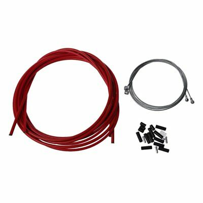 3X(Bike Complete Front & Rear Inner Outer Wire Gear Brake Cable - Red N6R9
