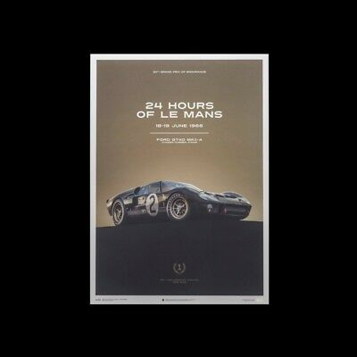 Le Mans Poster Ford GT40 MKII-A 1966 Noire