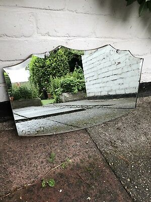 Vintage Beveled Edge Frameless Pointy Mirror Lovely Mirror Art Deco Mirror