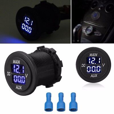LED Digital Dual Anzeige Voltmeter Spannung Meter Batterie Monitor Panel 10-60V