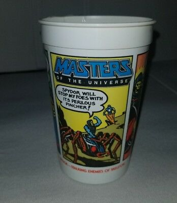 Vintage 1985 PEPSI Burger King HE-MAN Masters Universe ENEMIES of SKELETOR cup