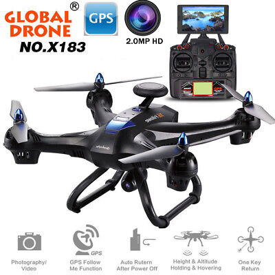 Global Drone GPS Gyro WiFi FPV Real Time 1080P Camera Brushless Quadcopte