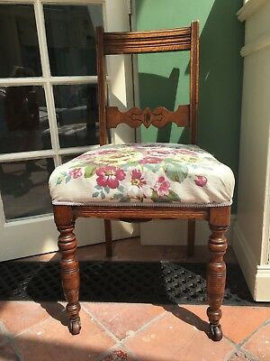 pretty floral antique occasional chair