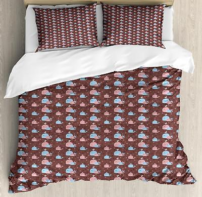 Ocean Whale Duvet Cover Set Twin Queen King Sizes with Pillow Shams