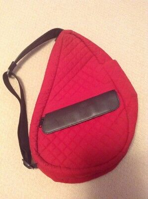 L.l. Bean Large Quilted Red Ameribag Healthy Backpack-Unisex- **very Good**