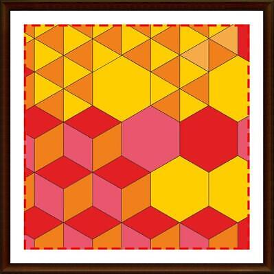 Template for cutting and patchwork - Hexagon Set (hexagon, diamond, triangle)