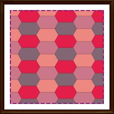 Template for cutting and patchwork - Long hexagon
