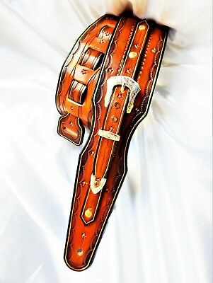 Lovely hand-made hand-carved leather guitar strap with buckle. Great Price!!