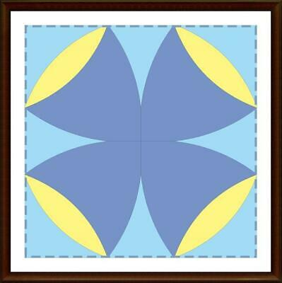 Template for cutting and patchwork - Four Leaf Clover