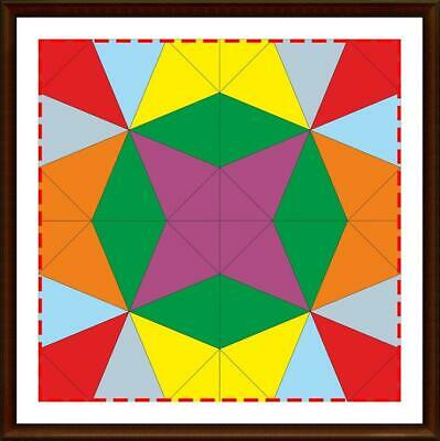 Template for cutting and patchwork - Kaleidoscope