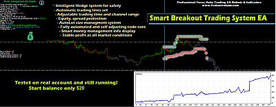 Reliable and profitable EA Smart Auto BreakOut Hedge for MT 4