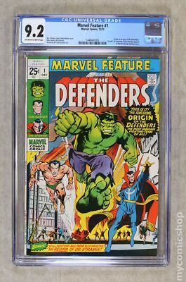 Marvel Feature #1 CGC 9.2 Off White-White Pages 1971 1st Appearance of Defenders