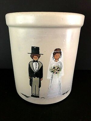 Robinson Ransbottom Pottery RRP Roseville, Ohio - Crock - Bride and Groom