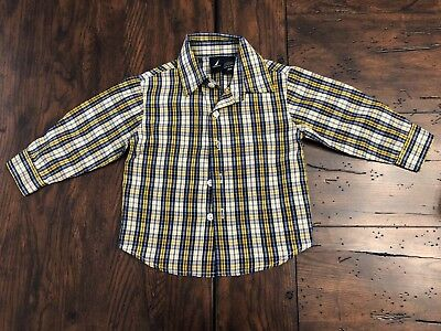Nautica 18 Month Long Sleeve Button-Up