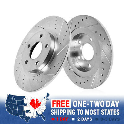 Rear Drilled Slotted Brake Rotors 2009 2010 2011 2012 2013 - 2015 Toyota Venza