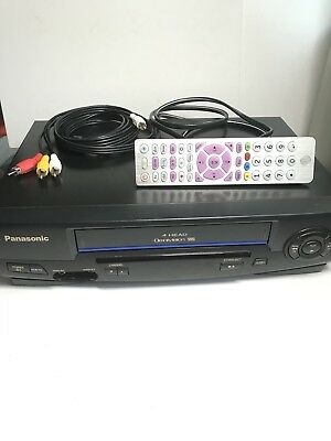 Panasonic PV-V4021 Video Cassette Recorder VCR VHS Player w/ Remote* Working