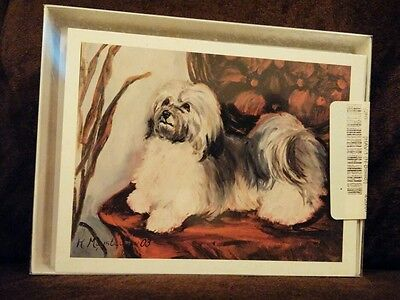 Havanese dog note cards with envelopes by Ruth Maystead