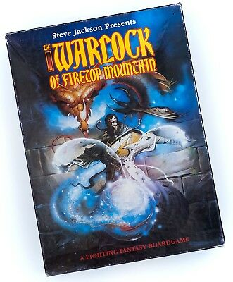 Warlock of Firetop Mountain complete, used, boxed game