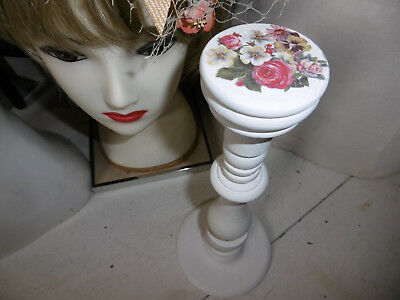 Vintage wooden millinery stand hat with Annie Sloan paint REDUCED PRICE
