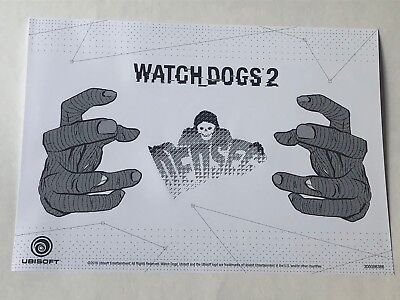 Watch Dogs 2 Sticker Pack Official Promo Ubisoft Xbox One 360 PS4 PS3