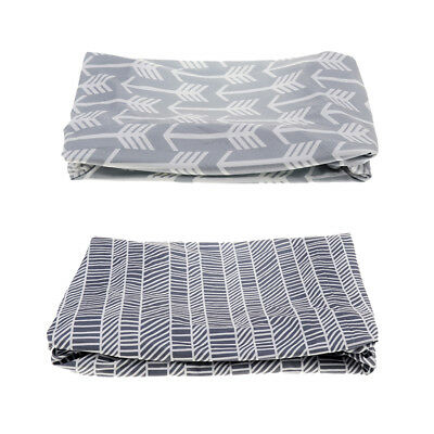 Prettyia 2Pcs Kids Fitted Diaper Changing Mat Cover Baby Nursery Case Sheet
