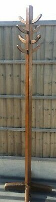 Vintage Abbess Wooden Mid Century Industrial Office Coat Stand