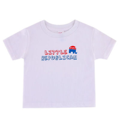 New Baby Boy's or Girl's Size 2T Little Republican T Shirt Trump