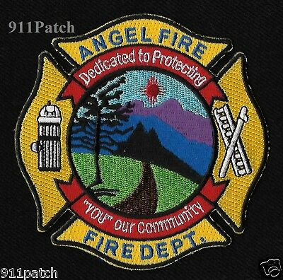Angel Fire, NM - Dedicated to Protecting FIREFIGHTER Patch NEW MEXICO FIRE DEPT.