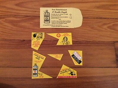 Vintage Dickinson's Witch Hazel Advertising Puzzle with Envelope