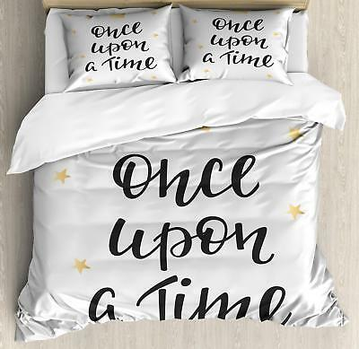 Once Upon a Time Duvet Cover Set Twin Queen King Sizes with Pillow Shams