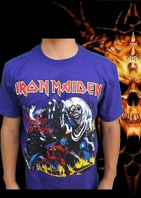 Iron Maiden Number Of The Beast Rock  Band Purple T Shirt