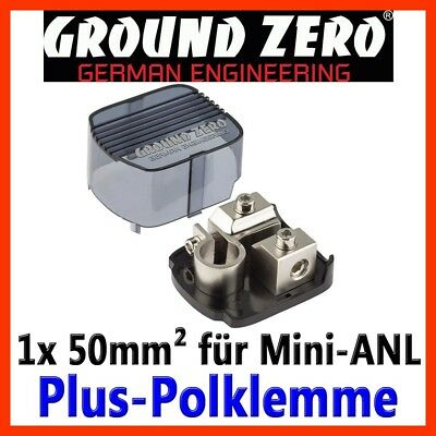 Ground Zero Plus Polklemme Mini-ANL Batterieklemme Pluspol Sicherungshalter