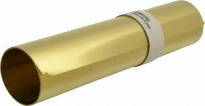 Made in USA 10 Ft. Long x 12 Inch Wide x 0.004 Inch Thick, Roll Shim Stock Brass