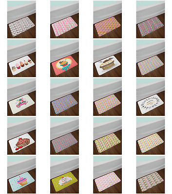 "Cupcake Bath Mat Bathroom Decor Plush Non-Slip Mat 29.5"" X 17.5"""