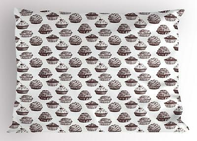 Cupcake Pillow Sham Decorative Pillowcase 3 Sizes Bedroom Decoration