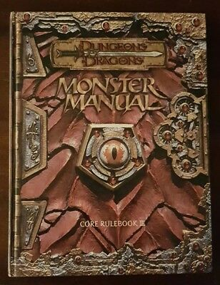 Dundeons and Dragons 3 - Core Rulebook III - Monster Manual