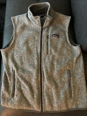 Mens Patagonia Better Sweater Vest size Large - Grey