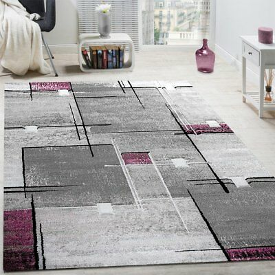 Groovy Contemporary Rugs Purple And Grey Geometric Pattern Mats Dining Room Area Carpet Download Free Architecture Designs Grimeyleaguecom