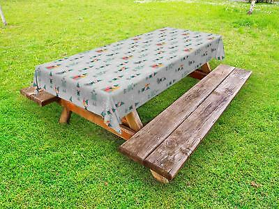 Gnome Outdoor Picnic Tablecloth in 3 Sizes Washable Waterproof