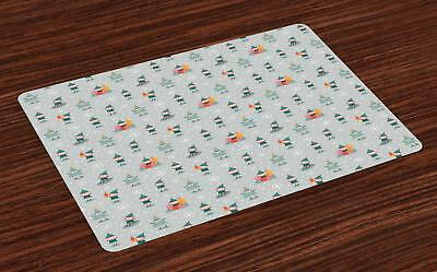 Gnome Placemats Set of 4 Washable Fabric Place Mats Decoration