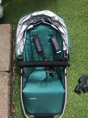 Uppababy Vista 2015 Rumble Seat, with Adapters & Rain Cover Green