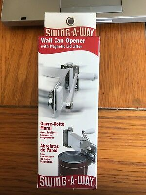 Swing-A-Way Wall Mount Can Opener - Magnetic Lifter - Swing Away 609Wh New!