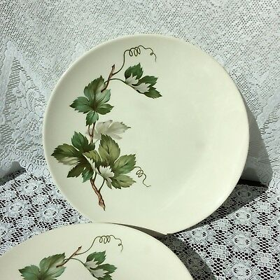 """Vintage Edwin Knowles Grapevine Dinner Plates Set Of 3 10.25"""" Plates"""