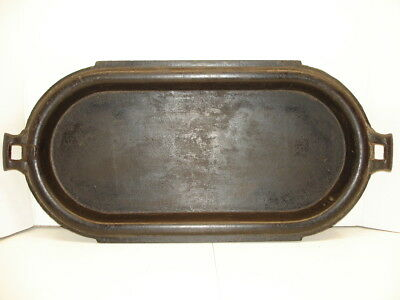 Antique No 8 Large & Deep Cast Iron Griddle...gatemarked