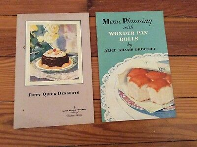 Vintage 1929 Hostess Cake and Wonder Bread Recipe Booklets Alice Adams Proctor