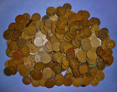 573 mixed Wheat Pennies - MUCH HIGHER PERCENTAGE OF TEENS AND TWENTIES