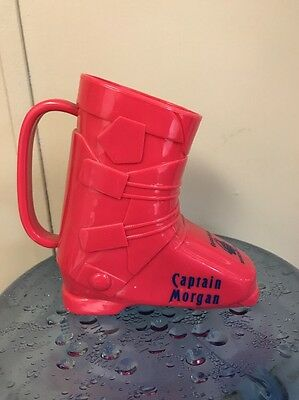 Captain Morgan Pink Ski Boot Advertising Drinking Cup Mug